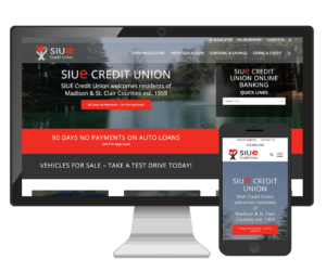 SIUE Credit Union Website Design Vinnie Mac Digital Marketing Glen Carbon IL