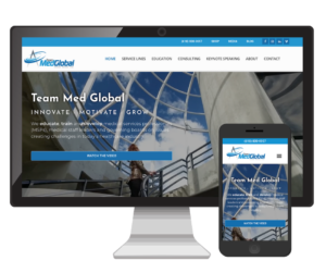Team Med Global Website Design Vinnie Mac Digital Marketing Glen Carbon IL