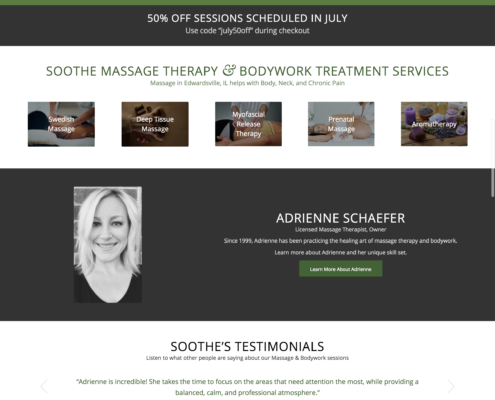 Massage Website for SEO